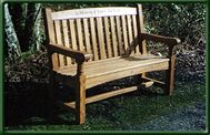Handmade Oak Memorial bench seat
